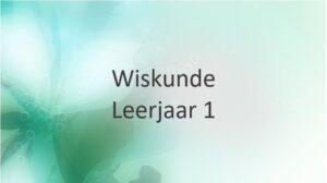 Leerjaar 1
