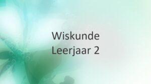 Leerjaar 2
